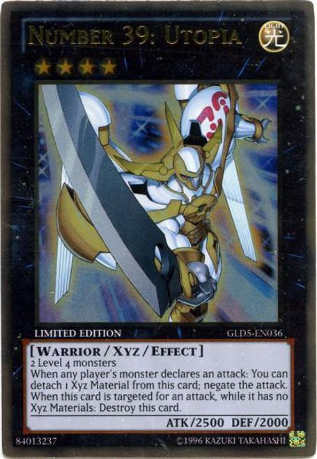 YuGiOh Gold Series 5: Haunted Mine Gold Rare Number 39: Utopia GLD5-EN036