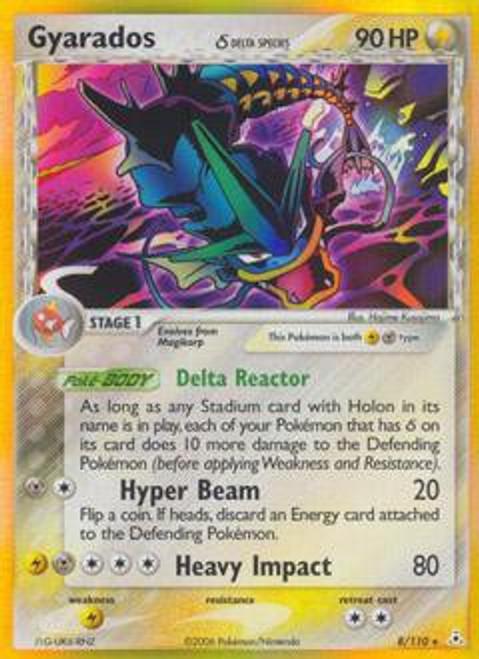 Pokemon EX Holon Phantoms Rare Holo Gyarados [Delta Species] #8