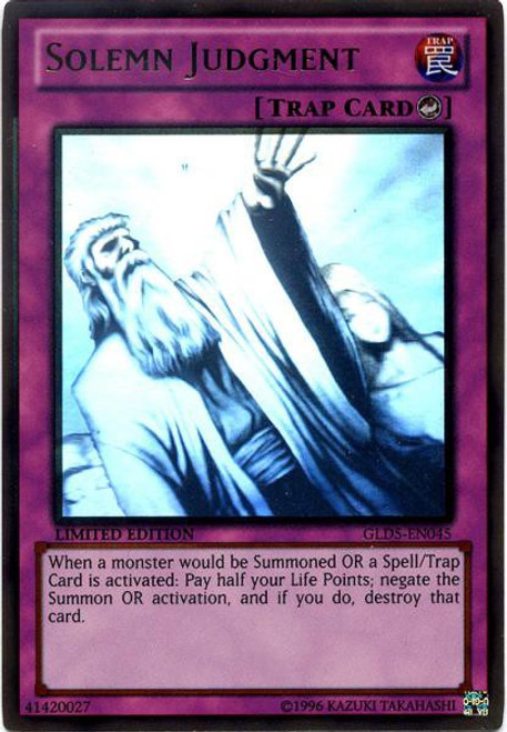 YuGiOh Gold Series 5: Haunted Mine Ghost Gold Rare Solemn Judgment GLD5-EN045