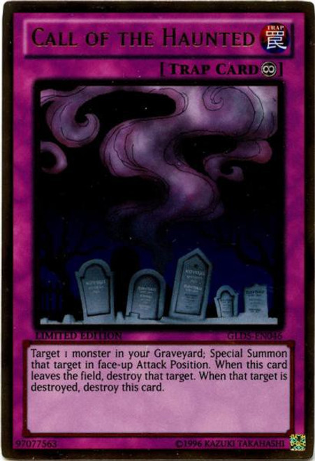 YuGiOh Gold Series 5: Haunted Mine Gold Rare Call of the Haunted GLD5-EN046