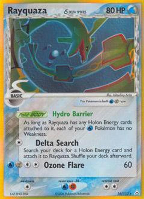 Pokemon EX Holon Phantoms Rare Holo Rayquaza [Delta Species] #16