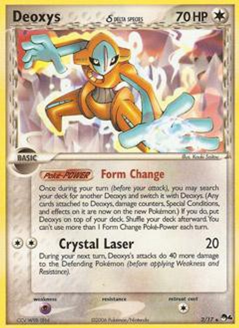 Pokemon Trading Card Game Organized Play Series 4 Rare Deoxys (Normal)(Delta Species) #2