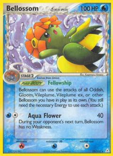 Pokemon EX Holon Phantoms Rare Bellossom [Delta Species] #19
