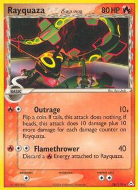 Pokemon EX Holon Phantoms Rare Rayquaza [Delta Species] #26