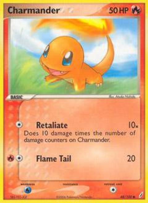 Pokemon EX Crystal Guardians Common Charmander #48