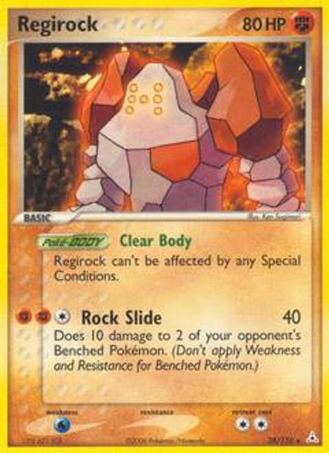 Pokemon EX Holon Phantoms Rare Regirock #28