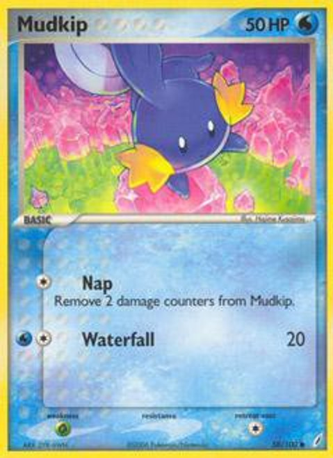 Pokemon EX Crystal Guardians Common Mudkip #58