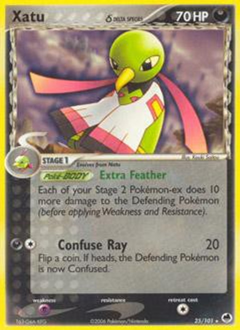 Pokemon EX Dragon Frontiers Rare Xatu (Delta Species) #25
