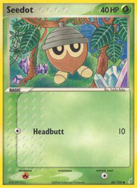 Pokemon EX Crystal Guardians Common Seedot #60