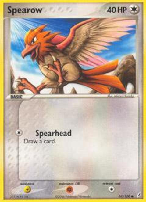 Pokemon EX Crystal Guardians Common Spearow #61