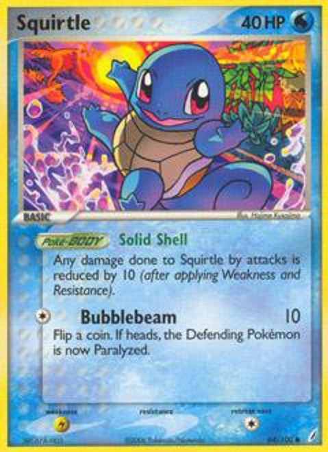 Pokemon EX Crystal Guardians Common Squirtle #64
