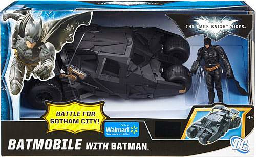 The Dark Knight Rises Battle for Gotham City Batmobile with Batman Exclusive Action Figure Vehicle