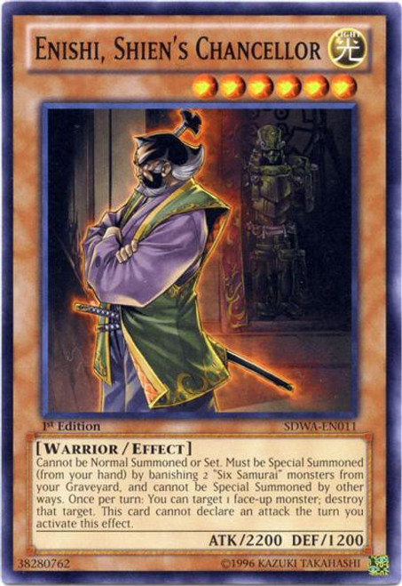 YuGiOh Trading Card Game Samurai Warlords Structure Deck Common Enishi, Shien's Chancellor SDWA-EN011