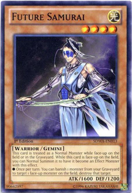 YuGiOh Trading Card Game Samurai Warlords Structure Deck Common Future Samurai SDWA-EN013