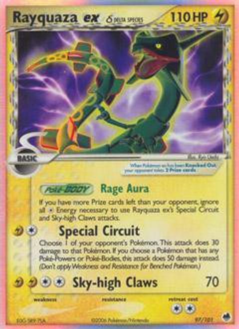 Pokemon Dragon Frontiers Ultra Rare Rayquaza ex #97