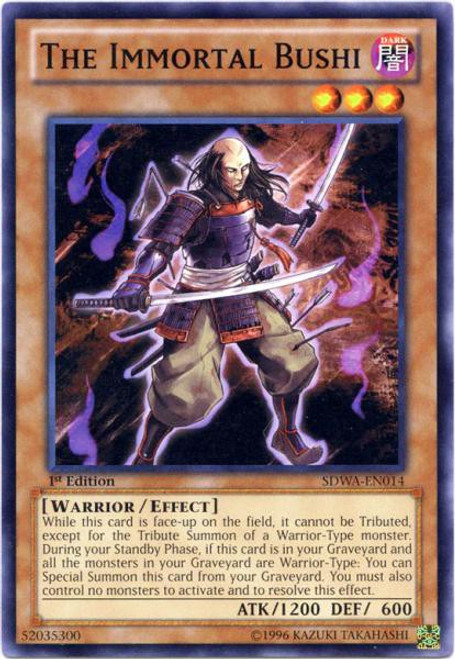 YuGiOh Trading Card Game Samurai Warlords Structure Deck Common The Immortal Bushi SDWA-EN014