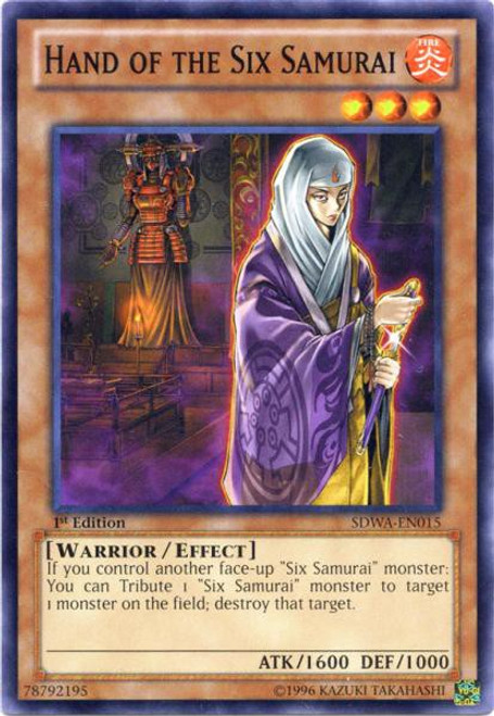 YuGiOh Trading Card Game Samurai Warlords Structure Deck Common Hand of the Six Samurai SDWA-EN015