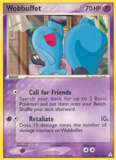 Pokemon EX Holon Phantoms Common Wobbuffet #56