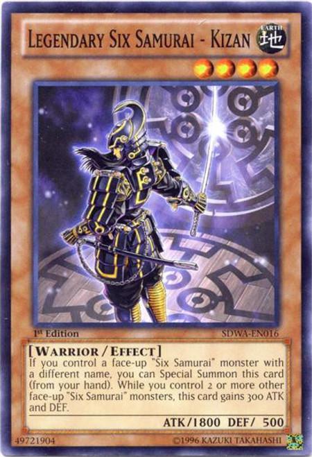 YuGiOh Trading Card Game Samurai Warlords Structure Deck Common Legendary Six Samurai - Kizan SDWA-EN016