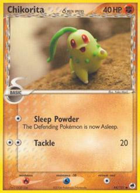 Pokemon EX Dragon Frontiers Common Chikorita (Delta Species) #44