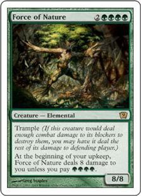 MtG 9th Edition Rare Force of Nature #242