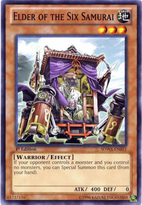 YuGiOh Trading Card Game Samurai Warlords Structure Deck Common Elder of the Six Samurai SDWA-EN021