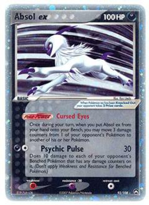 Pokemon Power Keepers Ultra Rare Absol ex #92