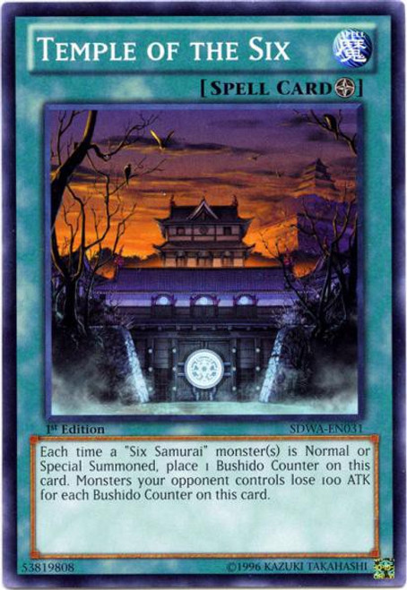 YuGiOh Trading Card Game Samurai Warlords Structure Deck Common Temple of the Six SDWA-EN031