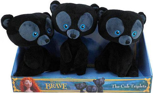 Disney / Pixar Brave The Cub Triplets Plush Set