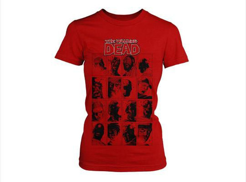 The Walking Dead Faces T-Shirt [Women's Small]