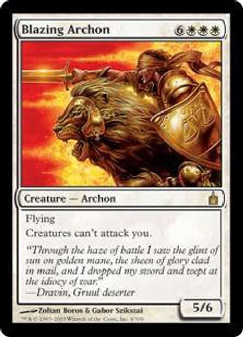 MtG Ravnica: City of Guilds Rare Blazing Archon #4