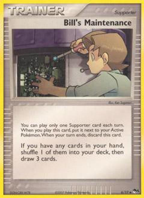 Pokemon Trading Card Game Organized Play Series 5 Uncommon Bill's Maintenance #6