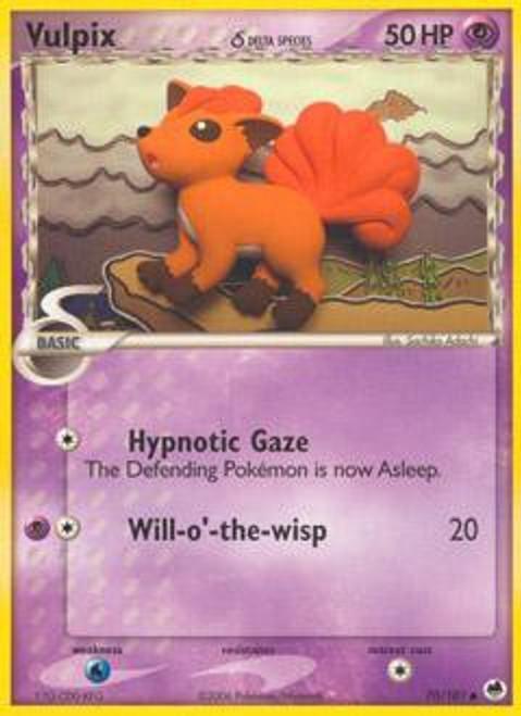 Pokemon EX Dragon Frontiers Common Vulpix (Delta Species) #70