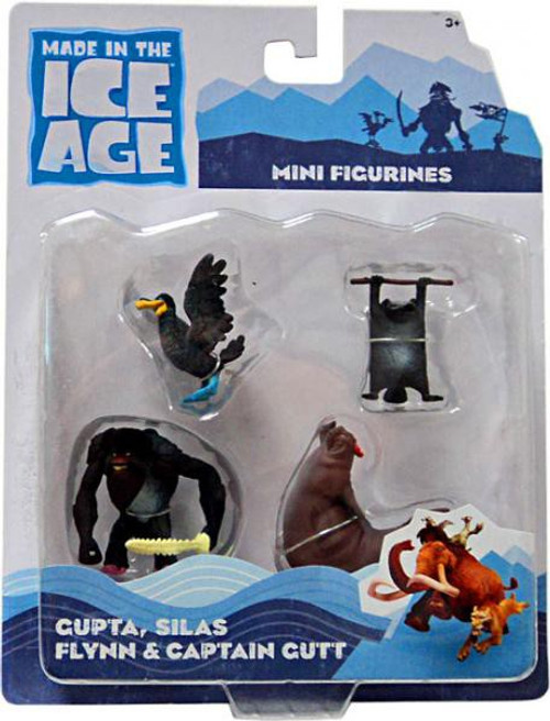 Ice Age Continental Drift Gupta, Silas, Flynn & Captain Gutt Mini Figure 4-Pack