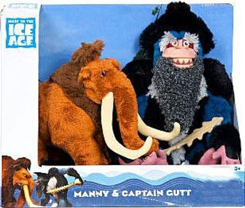 Ice Age Continental Drift Manny & Captain Gutt Exclusive Plush Figure 2-Pack