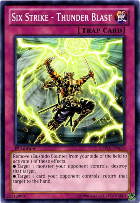 YuGiOh Trading Card Game Samurai Warlords Structure Deck Common Six Strike - Thunder Blast SDWA-EN039