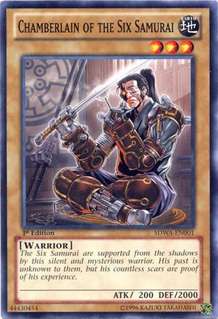YuGiOh Trading Card Game Samurai Warlords Structure Deck Common Chamberlain of the Six Samurai SDWA-EN001