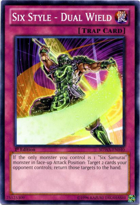 YuGiOh Trading Card Game Samurai Warlords Structure Deck Common Six Style - Dual Wield SDWA-EN040
