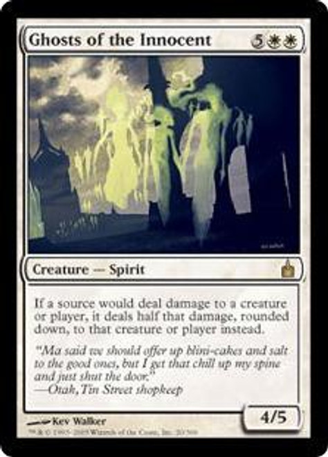 MtG Ravnica: City of Guilds Rare Ghosts of the Innocent #20