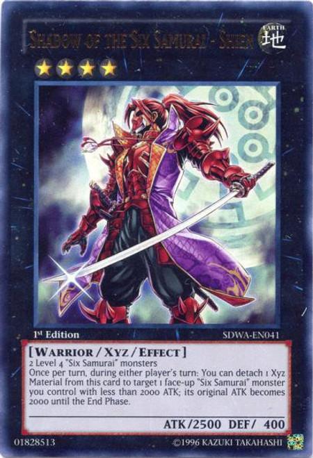 YuGiOh Trading Card Game Samurai Warlords Structure Deck Ultra Rare Shadow of the Six Samurai - Shien SDWA-EN041