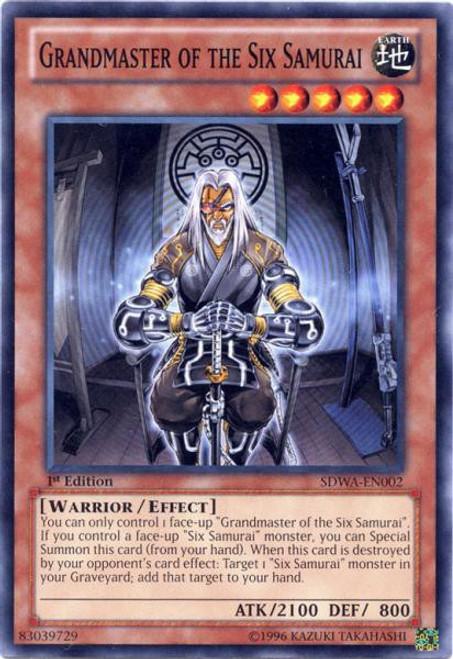 YuGiOh Trading Card Game Samurai Warlords Structure Deck Common Grandmaster of the Six Samurai SDWA-EN002