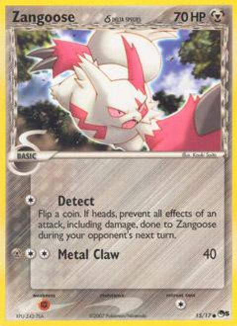 Pokemon Trading Card Game Organized Play Series 5 Common Zangoose (Delta Species) #15
