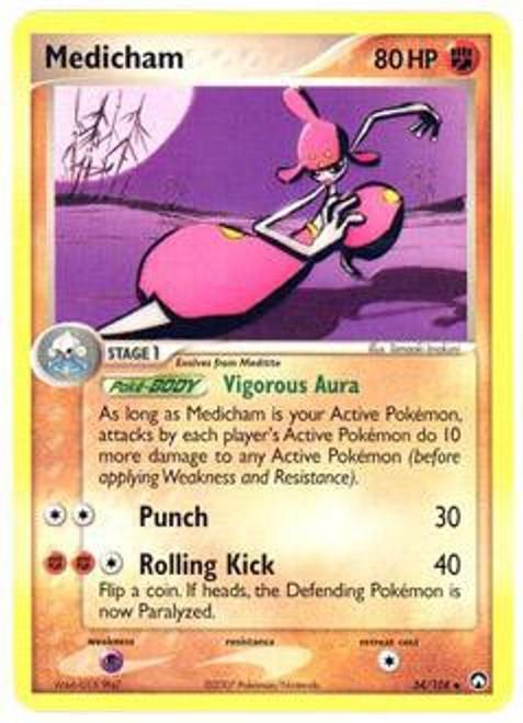 Pokemon EX Power Keepers Uncommon Medicham #34