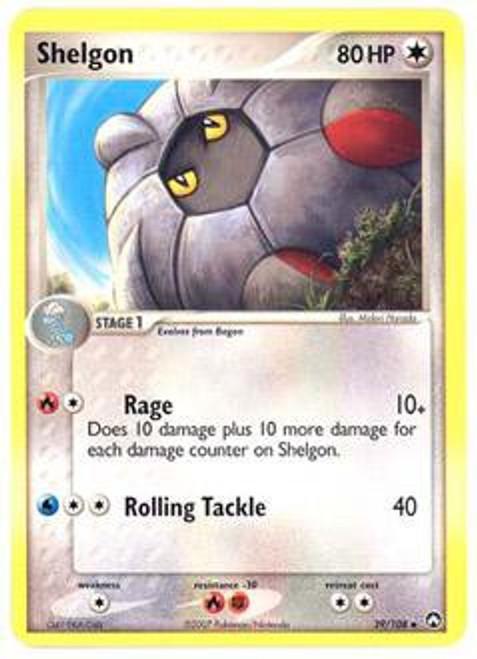 Pokemon EX Power Keepers Uncommon Shelgon #39