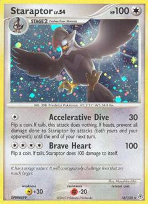 Pokemon Diamond & Pearl Rare Staraptor #16
