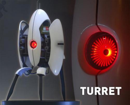 Portal 2 Turret 16-Inch Statue