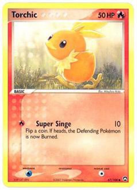 Pokemon EX Power Keepers Common Torchic #67