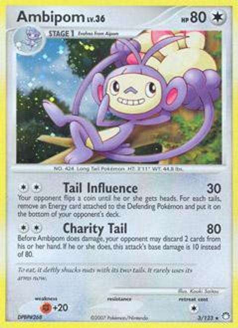 Pokemon Diamond & Pearl Mysterious Treasures Rare Ambipom #3