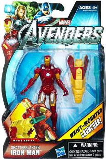 Marvel Avengers Movie Series Shatterblaster Iron Man Action Figure