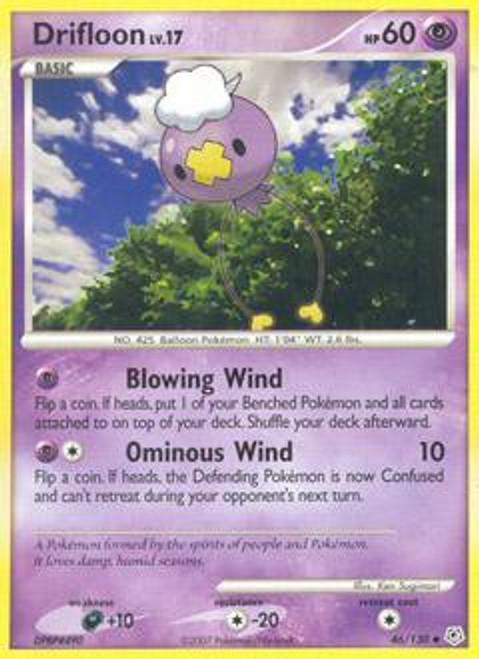 Pokemon Diamond & Pearl Uncommon Drifloon #46